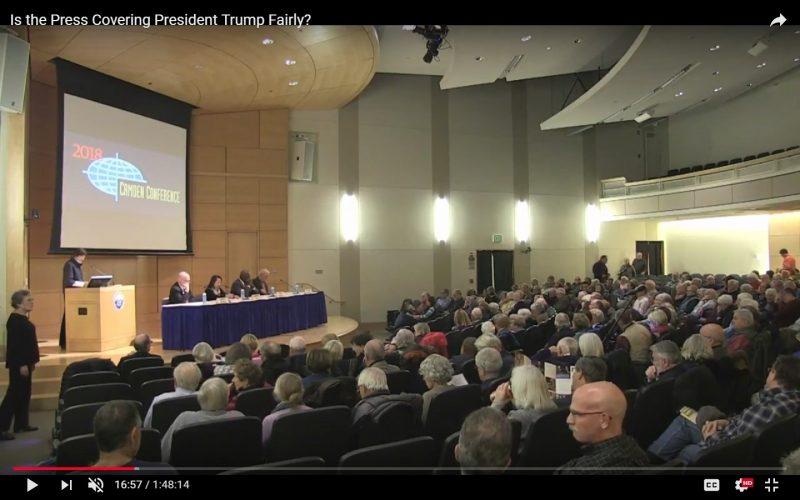 Press panel at Hannaford Hall draws a crowd