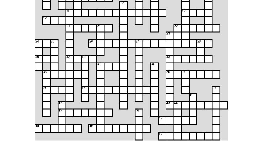 Camden Conference Crossword Puzzle-The Geopolitics of the Arctic